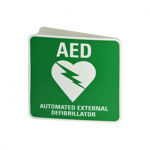 Wall Mount 3D AED Angle Bracket Sign (Poly)