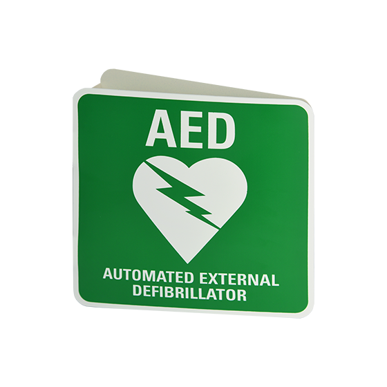 Wall Mount 3D AED Angle Bracket Sign (Poly)>
