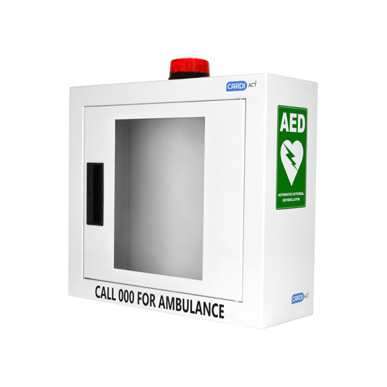AED Wall Cabinet with Alarm & Flashing Light>