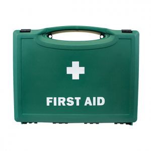 Green Plastic First Aid Cases small