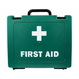 Green Plastic First Aid Cases medium