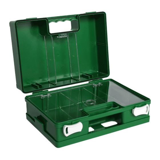 Green Plastic First Aid Box>