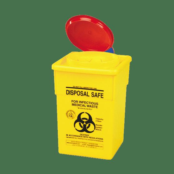 AeroHazard Sharps Disposal Container 2L>