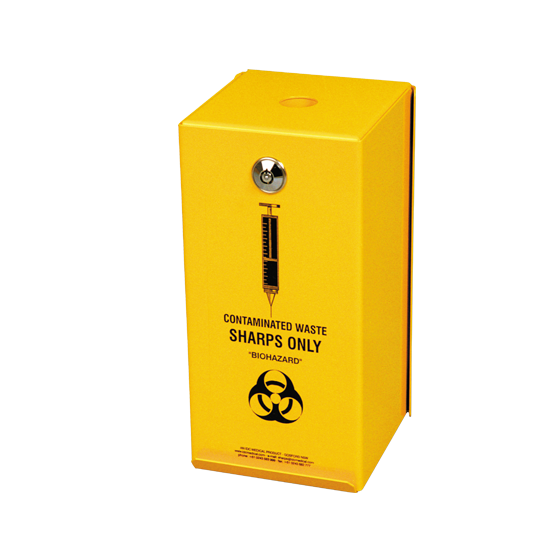 AeroHazard Sharps Disposal Container – Steel Security Case to suit 2L>