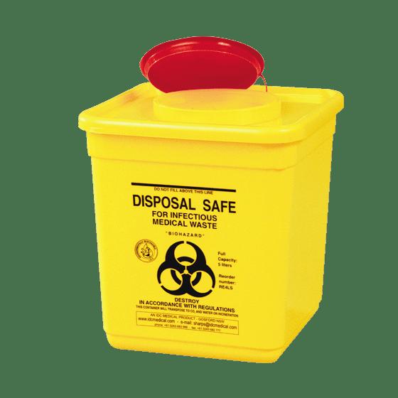 AeroHazard Sharps Disposal Container 4.5L>