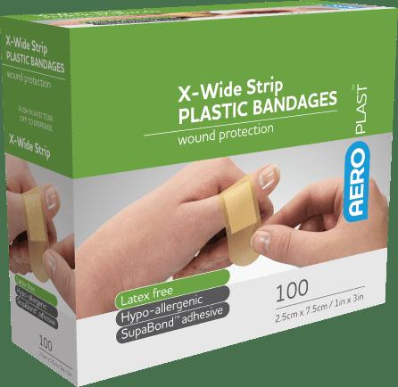 AeroPlast Plastic Bandages – Extra Wide Strip>