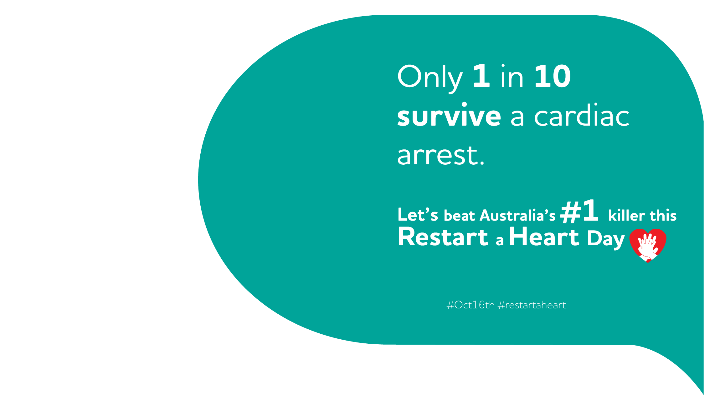Image of the Restart a Heart Day 2019 advert