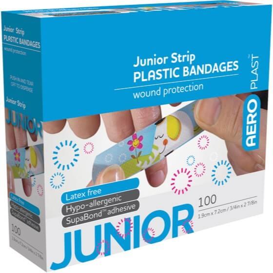 AeroPlast Plastic Bandages – Junior Strip 100pk>