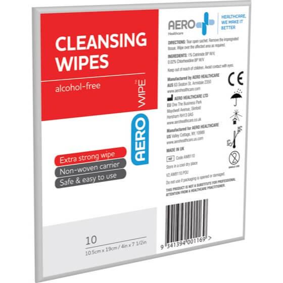 AeroWipe Alcohol-Free Cleansing Wipes envelope/10>