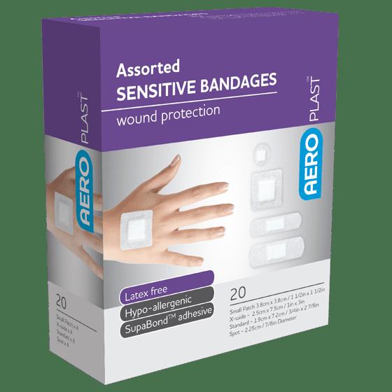 AeroPlast Sensitive Bandages – Assorted Dressings>