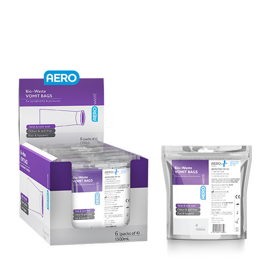 Aerowaste Bio-Waste Vomit Bags & Shelf Display Box>