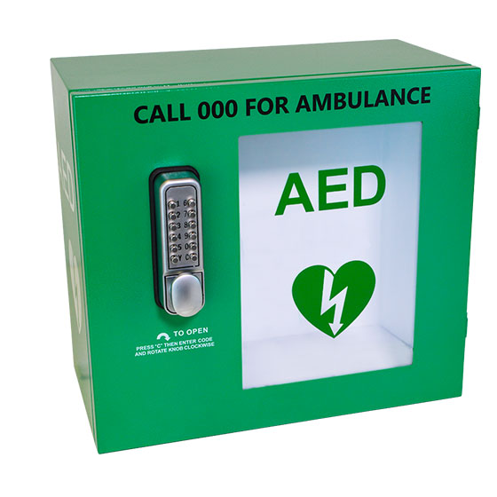 AED Weatherproof Wall Cabinet with Keypad Lock>
