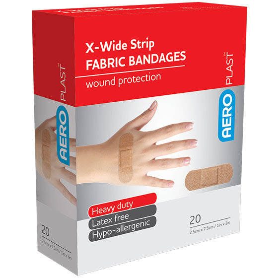 AFP6020 – AeroPlast Premium Fabric Bandages – Extra Wide Strip – Box/20>